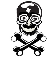 The skull of the person vector