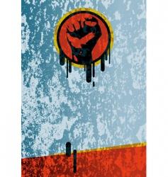 Fist grunge background vector