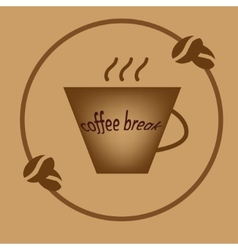 Coffee break brown symbol vector