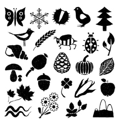 Doodle nature pictures vector