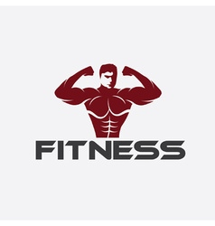 Bodybuilder fitness model vector