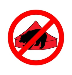 Grizzly bear in circus prohibited vector