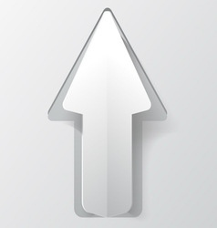 White paper arrow with shadow background for your vector