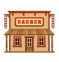 Wild west barber shop vector