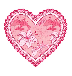 Heart lace pattern 3 380 vector