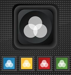 Color scheme icon sign symbol squared colourful vector