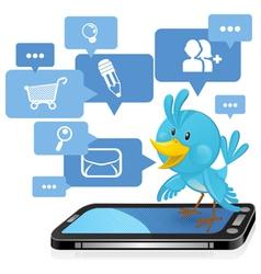 Social networking media bluebird vector