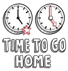 Time to go home vector