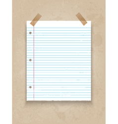 Lined paper on grunge background 1206 vector