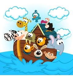 Noah ark with animals vector