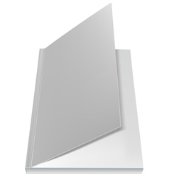 White open book front page vector