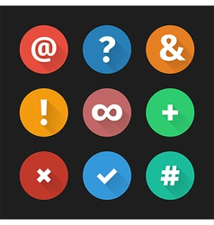 Simple web icons set 001 vector