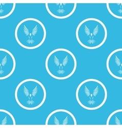 Bird sign blue pattern vector