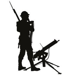 Mashine gunnerwarriors theme vector