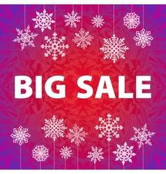 Winter sale background banner and snow christmas vector