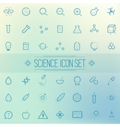 Set science physics chemistry medicine trendy icon vector