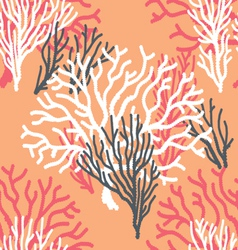 Seamless coral print vector
