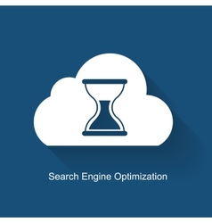 Seo - search engine optimization flat icon vector