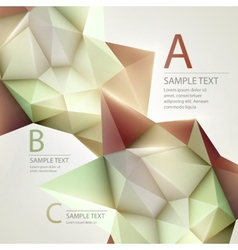 Low poly triangular background infographics vector