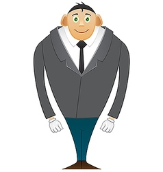 Smile office man large breasts vector
