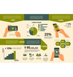 Infographic visualization of usability smartphone vector