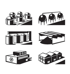 Commercial and industrial warehouses vector