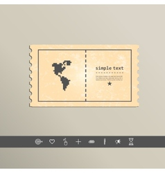 Pixel icon north and south america design vector