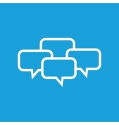 Chat conference icon vector