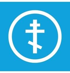 Orthodox cross sign icon vector