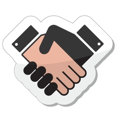 Agreement handshake icon - label vector