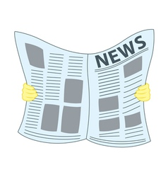 Reading newspaper vector