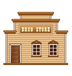 Wild west drug store vector