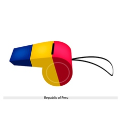 A whistle of the republic of peru vector
