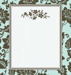 Floral pattern and floral frame vector