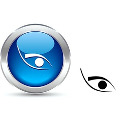 Eye button vector