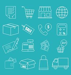 Shopping icon vector
