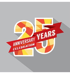 25th years anniversary celebration design vector
