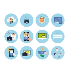 Online shopping elements vector