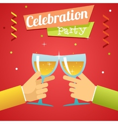 Celebration success prosperity invitation vector