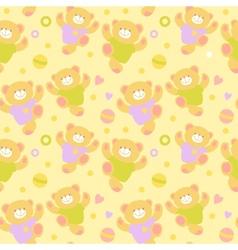 Seamless teddy bears vector