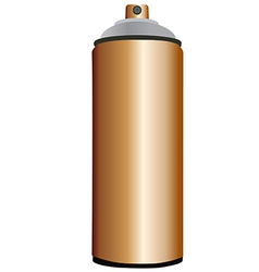 Spray bottle copper vector