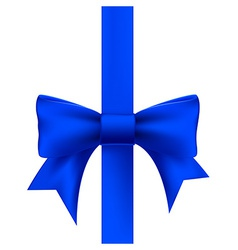 Blue ribbon with a bow vector