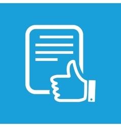 Good document icon vector