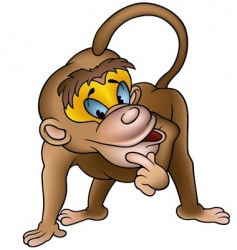 Clever monkey vector