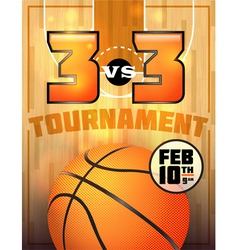 Basketball tournament flyer vector