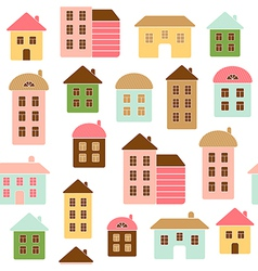 Home seamless pattern vector