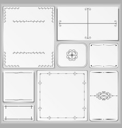 Paper with different vintage elements vector