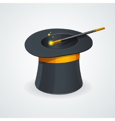 Magic wand and cylinder hat vector