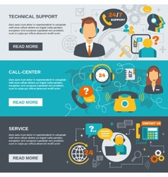 Support call center banner vector