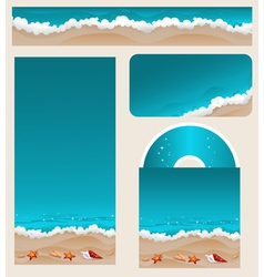 Branding design beach theme vector